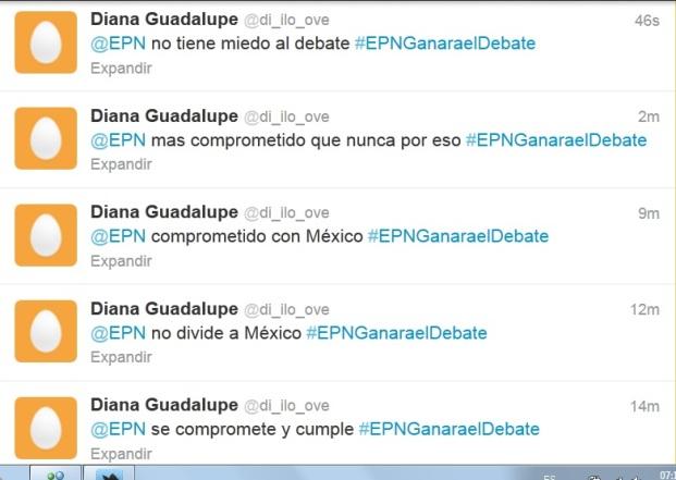 Enrique Peña Nieto miente en twitter con el hash tag #EPNganaraeldebate