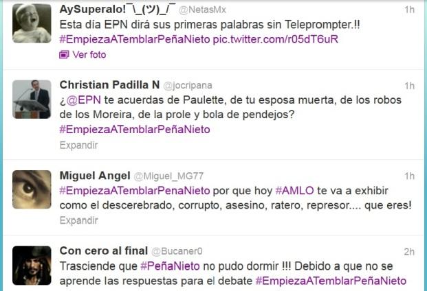 El hash tag #EPNempiezaatemblar horas antes de iniciado el debate
