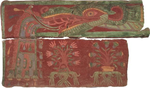 pieza de los murales de Teotihuacán sustraidos por Hararld Wagner en los años 70