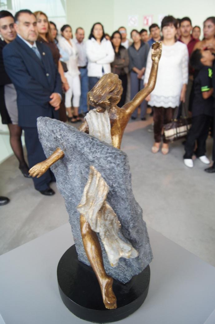 Escultura de identidad de un pueblo. Chimalhuacán