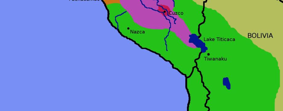 mapa del imperio inca