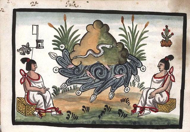 Representación prehispánica del Cerro Coatepec