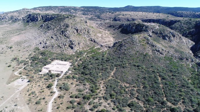 zona arqueologica el-coporo-guanajuato vista aérea