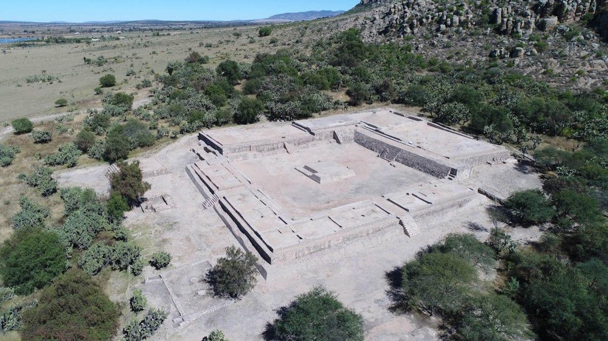 zona arqueologica el-coporo-guanajuato vista desde arriba