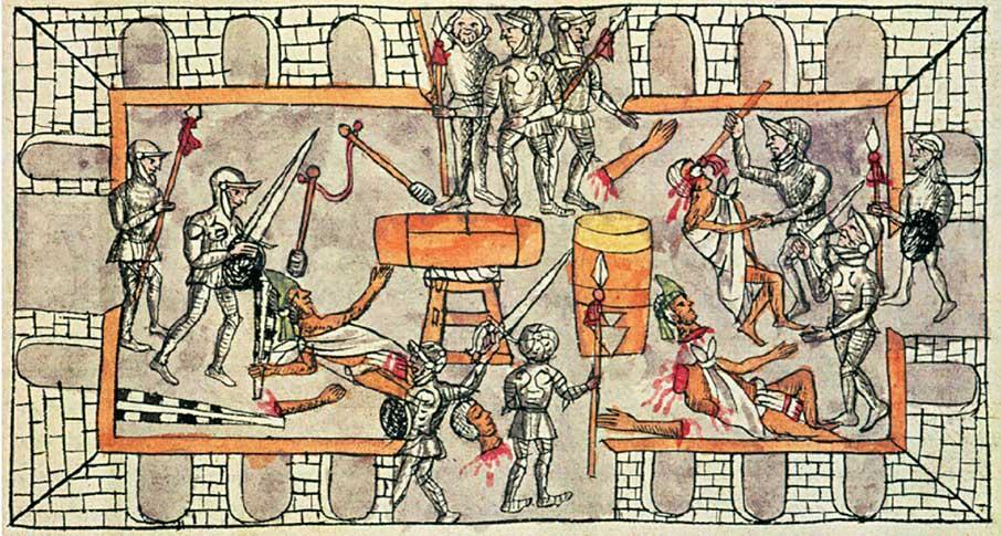 aztecas contra españoles