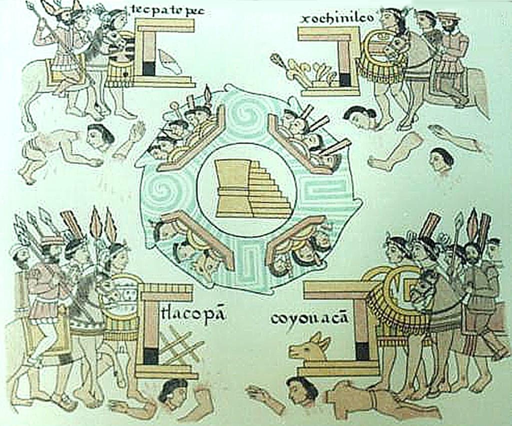 cerco a tenochtitlan, lienzo de tlaxcala