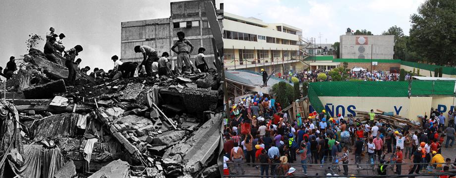sismo del 85 y 2017 en méxico