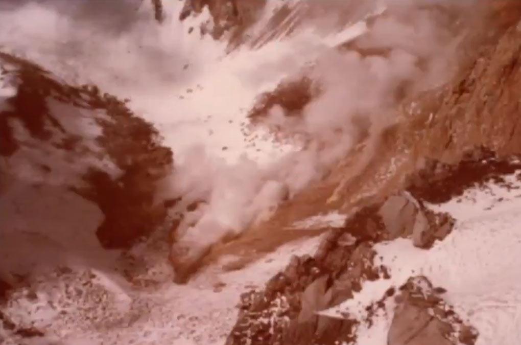 glaciar ayoloco en la mujer dormida