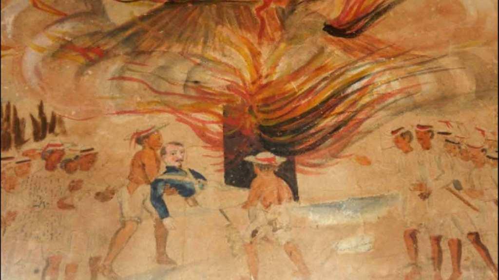 Guerra de castas, acuarela